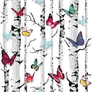Ugepa 3 Dynamic Kelebek Desenli E718-20 Duvar Kağıdı
