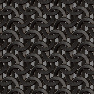 Ugepa Virtual Reality J448-09 Siyah Gri Halkalar 3 Boyutlu Duvar Kağıdı